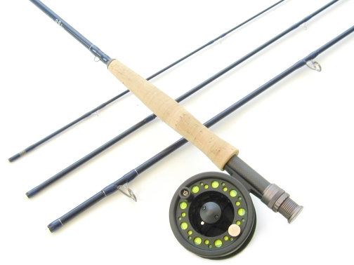light 6wt, 9ft, 4pc TiCr X Series Fast Action Large Arbor Starter Combo