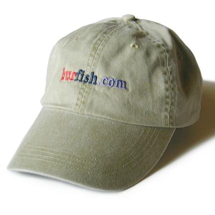 Khaki burfish.com Baseball Cap
