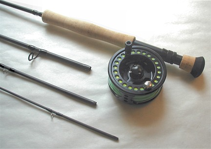 4 piece saltwater fly fishing large arbor combo: fly fishing gear, Fishing Reels