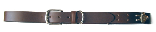 No.1 Dark Brown Leather Colonel Belt