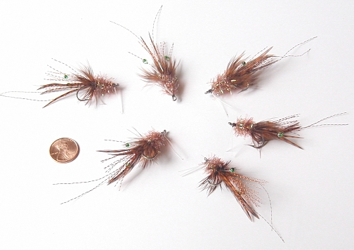 Brown Grass Shrimp (1 Pack) by East Cut Flies