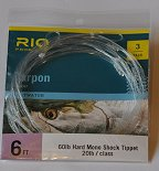 RIO Tarpon 3 Pack 20lb Leader 60lb Hard Nylon Shock