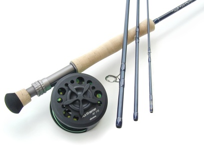 9wt, 9ft, 4pc TiCr X Series Super Fast Action Large Arbor Starter Combo