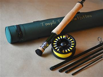8wt. 9ft 5 piece bvk fly rod / cla prism fly reel fly fishing, Fishing Reels