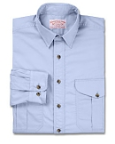 Light Blue Lightest Longsleeve Feather Cloth Shirt by Filson
