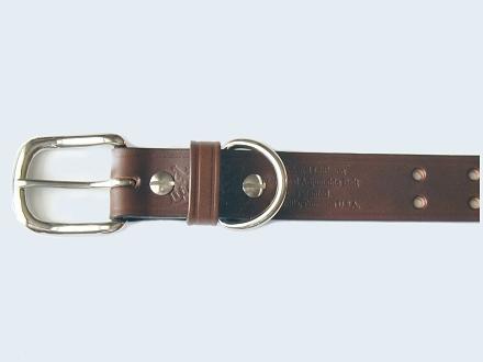 No.1 Dark Brown Leather Colonel Belt