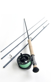 9wt, 9ft, 4pc TiCr X Fly Rod / Large Arbor Starter Fly Reel - Starter Combo