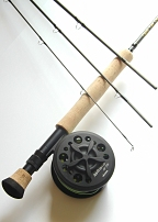7wt, 10ft, 4pc Pro Fly Rod / Large Arbor Starter Fly Reel - Fly Fishing Combo