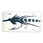 Tarpon Fly License Plate by Vaughn Cochran