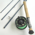 8wt, 9ft, 4pc TiCr X Series Fly Rod / Large Arbor Starter Fly Reel - Combo