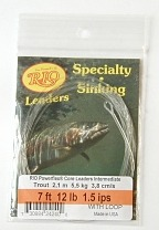 12lb. 7ft. Trout VersiLeader 1.5 IPS Sinking Tapered Leader by Rio