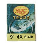 6.4lb.Test  9ft. 4X Powerflex Trout Tapered Knotless Leader by RIO