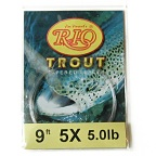 5lb. Test 9ft. 5X Powerflex Trout Tapered Knotless Leader by RIO