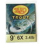 3.4lb. Test 9ft. 6X Powerflex Trout Tapered Knotless Leader by RIO