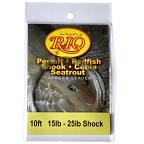 25lb. Shock Tippet on 15lb. Permit-Redfish  Light Saltwater Leader