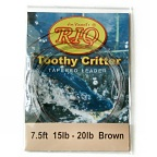20lb. Vectran Shock Tippet on 15lb. Toothy Critter Tapered Leader by RIO