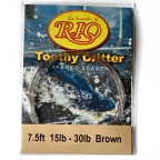 30lb. Vectran Shock Tippet on 15lb. Toothy Critter Tapered Leader by RIO