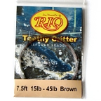 45lb. Vectran Shock Tippet on 15lb. Toothy Critter Tapered Leader by RIO