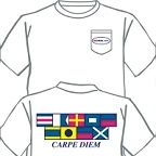 Carpe Diem Signal Flag Pocket T-shirt by Burleson Sporting Co.