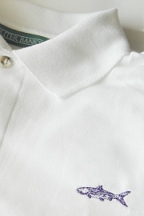 White Bonefish Knit Shirt by Burleson Sporting Co.