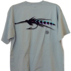 Pigment Died Tarpon Fly Pocket T-Shirt by Vaughn Cochran