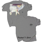 Pigment Died Tarpon Award Series Pocket T-Shirt by Vaughn Cochran