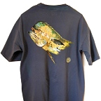Pigment Died Dolphin Award Series Pocket T-Shirt by Vaughn Cochran
