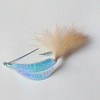 Scotts Pearl Spoon Fly #4 by East Cut Saltwater Flies