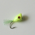 Chartreuse Redfish Popper #6 by East Cut Saltwater Flies