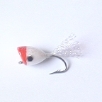 Red/White Redfish Popper #6 by East Cut Saltwater Flies