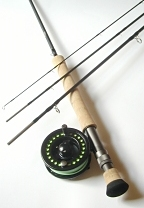 6wt, 9ft, 4pc TiCr Fly Rod / Integrity Large Arbor Fly Reel - Fly Fishing Combo