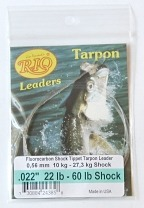 60lb. Fluorocarbon Shock Tippet on 22lb. Tarpon Hand Tied Leader by RIO