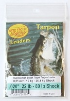 80lb. Fluorocarbon Shock Tippet on 22lb. Tarpon Hand Tied Leader by RIO