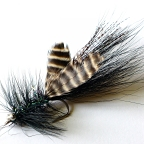 DL's Black Rio Colorado Fly 3/0 - 1 Tarpon Fly Hand Tied by DL Goddard