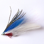 Blue/White Deceiver Fly 2/0 by Pacific Fly Group