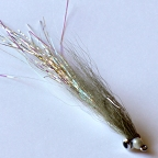 Olive Flashtail Deep Minnow #2 by Pacific Fly Group