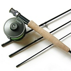 6wt 9ft 4pc pro fly rod   large arbor 310 fly reel combo by tfo