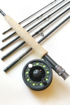 5wt, 9ft, 6pc Pro Fly Rod / Large Arbor Starter Fly Reel - Fly Fishing Outfit