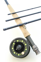 5wt, 9ft, 4pc TiCr X Fast Action Fly Rod / Large Arbor Starter Fly Reel - Fly Fishing Combo
