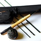 4/5wt, 8ft-6in, 4pc NXT Fly Rod, Reel, Backing, Fly Line, Rod Case Outfit by TFO