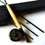 6/7wt, 9ft, 4pc NXT Fly Rod, Reel, Backing, Fly Line, Rod Case Outfit by TFO